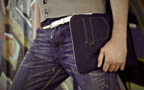 La housse bleue Jeans MacBook 1