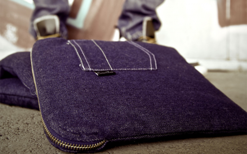 La housse bleue Jeans MacBook 6