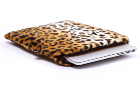Housse léopard Macbook - Leopard Chic